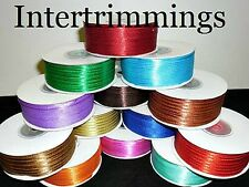 DOUBLE SIDED SATIN RIBBON, 3MM, ASSORTED COLOURS, CHOOSE LENGTH