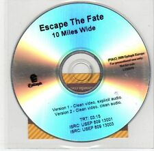 (EF988) Escape The Fate, 10 Miles Wide - 2009 DJ DVD