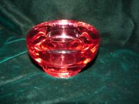 Vintage Cranberry Glass Candlestick