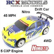 RC On Road Drift/Race Car Nitro/Petrol Radio/Remote Control Model 1/16 RTR 4WD