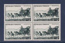 1/ timbre France  bloc de 4   journée du timbre de 1952   num: 919 **