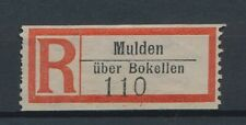 72648) Dt.Reich Reco-Zettel Mulden über Bokellen