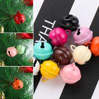 10pcs Metal Jingle Bells Pet Pendants Christmas Xmas Tree Key Hanging Decor 22mm