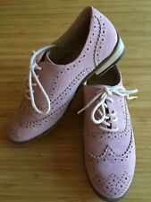 WITCHERY Teen Girl Pale Pink Faux Suede Leather Lace Up Brogue Oxford Shoes 35