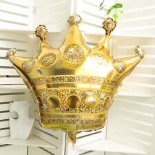 28''Gold Crown Foil Helium Large  Balloon Happy Birthday Wedding Party Baby Toy