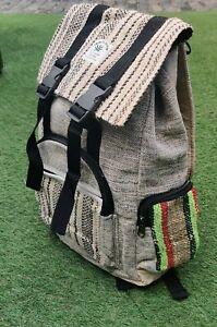 Hemp Bagpack Hemp rucksack Rasta bhutani Handmade organic sustainable vegan bag