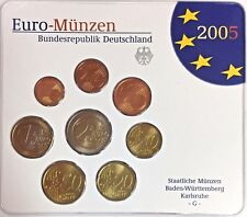 2005 G Germany Official Euro Coin Set Special Edition Karlsruhe Mint Deutschland