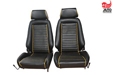 2 Recaro IDEAL SEAT N for Opel Manta Kadett Ford Capri BMW Leather Newly Upholstered