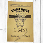 """Vintage August 1942 Toddle House """"Good As The Best"""" Restaurant Digest"""