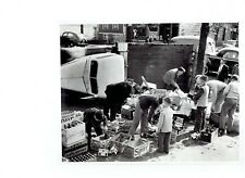 1947 Vintage Photo Milwaukee Police & children stack Canada Dry after car wreck