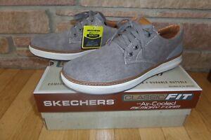 New Skechers Memory Foam Moreno Ederson Taupe Shoe 9.5 11 12