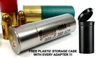 12GA to 380 ACP Shotgun Adapter - Chamber Reducer - Stainless - Free Case & Ship