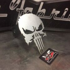 "Punisher Hitch Cover  - NEW SERIES STYLE - 1/8"" Steel - Tow Towing Reese Custom"