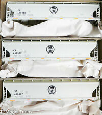 Accurail HO #8122 (3-Pack) Canadian Pacific ACF Covered Hoppers (Plastic Kits)