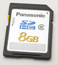 Panasonic 8GB SDHC Karte  Speicherkarte memory card