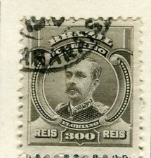 BRAZIL; 1906 early Portraits issue fine used 300r. value