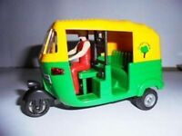 India Auto Rickshaw Centy Toys TUK TUK Transport Kids Souvenir Gift Collectible
