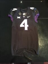 Game Worn Used Nike TCU Horned Frogs Football Jersey #4 Size 40