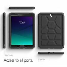 For Samsung Galaxy Tab S3 9.7 Poetic [TurtleSkin] Shockproof Case TPU Cover BLK