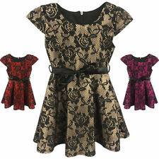 Polyester Summer Casual Dresses (2-16 Years) for Girls