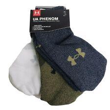 3-pack Under Armour Men's UA Phenom Training Crew Socks Guardian Green Assort M