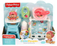 Fisher Price LITTLE PEOPLE Baby Deluxe Snack And Snooze Play Set