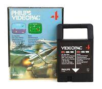 """Philips Videopac G7000 PAL """"4: Air-Sea War / Battle"""" Modul, Anl. & OVP"""
