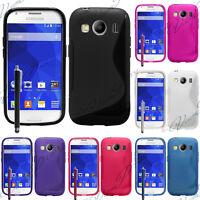 Etui Coque Housse TPU Silicone Gel Line Samsung Galaxy Ace 4 Style LTE SM-G357FZ