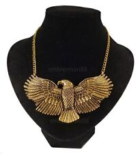 Golden Eagle Bird Gold Collar Costume Jewellery Necklace