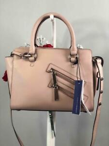 "NWT REBECCA MINKOFF ""Jamie"" Vintage Pink Leather Small Satchel Crossbody Bag"