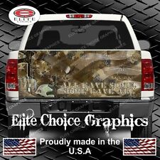 Fallen Heros Remember Vets Boots Truck Tailgate Wrap Vinyl Graphic Decal Wrap