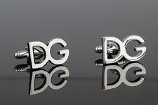 Dolce Gabbana cufflinks DG letters Silver Jewelry for Men Designer accessories