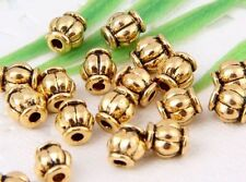 63Pcs Gold Plated Spacer Beads 6x5mm (Lead-free)