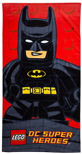 LEGO BATMAN DC SUPERHEROES KAPOW BATH BEACH TOWEL KIDS BOYS CHARACTER TOWEL