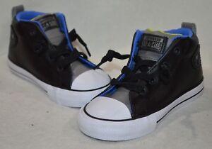 Converse Toddler Boys' CT AS Street Mid Top Black/Grey Sneaker-Sz 6/7/8/9/10 NWB