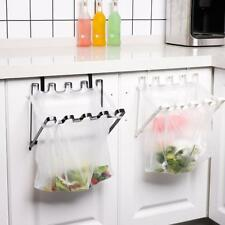UK Over Cabinet Door Space Saving Plastic Bag Metal Trash Bin Waste Frame Holder
