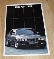 BMW 7 Series Brochure E32  1988 - 730I 735I SE 735IL