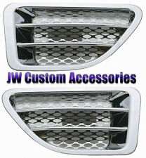 06-09 Range Rover Sport ABS Replacement Chrome Fender Side Vents Pair 950-73002
