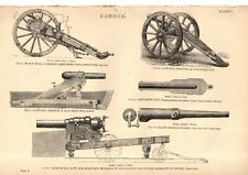 "THREE ANTIQUE STEEL PRINTS  - TRADE & TECHNOLOGY -  ""CANNON & FIELD GUNS'c.1870)"