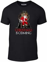 Mens Christmas is Coming T-Shirt - Xmas Gift Game Present of Thrones HBO Snow
