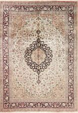 Silk Oriental Area Rug Floral Hand-Knotted Traditional Carpet 7x10 Clearance !