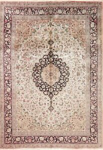 SILK Oriental Area Rug Floral Hand-Knotted Traditional Carpet 7x10 CLEARANCE !!!