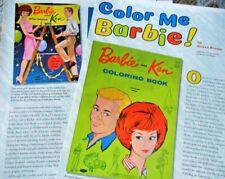 Huge 14p History Article -  VTG Barbie & Friends Coloring Books + Paper Dolls