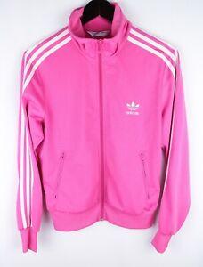 adidas Originals Women Track Jacket Activewear Leisure Casual Pink size 42 UK14