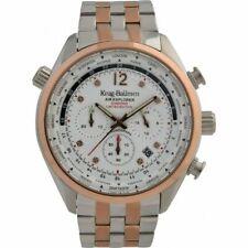 Krug Baumen Mens Air Explorer Diamond Ltd Ed Rose Gold Two Tone Watch,RRP£875