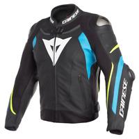 Dainese Super Speed 3 Leather Jacket Black Blue Yellow Motorcycle Jacket NEW