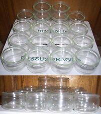 Lot 18 pots à crême en verre pour crême, yaourt, sauce, peinture, bricolage....