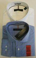 Tommy Hilfiger 2 Pack Regular Fit Dress Shirt Set -Blue Plaid / White, 15-15 1/2