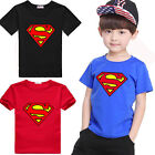Cute Baby Kids Boys Tee Tops Superman T-Shirt Summer Short Sleeve Clothes Blouse