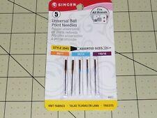 Singer Universal Ball Pt Needles (Item 4863) 70/09, 80/11, 100/16 - 5 pack
